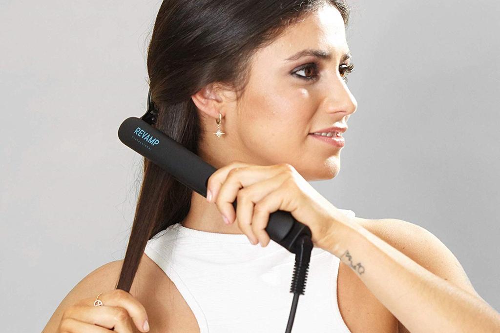 Progloss Digital Hair Straightener in Use ST-1000